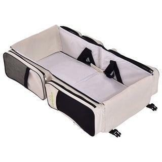 Link to Costway 3 in 1 Portable Infant Baby Bassinet Diaper Bag Changing Similar Items in Diaper Bags