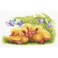 """Funny Ducklings Counted Cross Stitch Kit-15.75""""X9.75"""" 14 Count"""