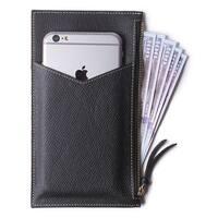 Rfid Blocking Women'S Genuine Leather Wallet Credit Card Holder Zipper Purse