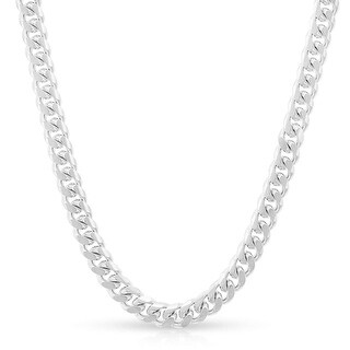 Curb 100-4MM .925 Sterling Silver Italian Link Chain