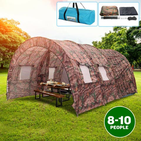 Oxford Cloth Double Layer Waterproof Windproof Anti-UV Tents