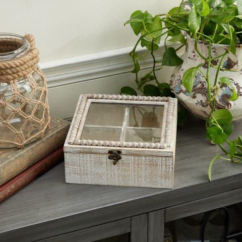 White Wood Farmhouse Box 4 x 9 x 9 - 9 x 9 x 4