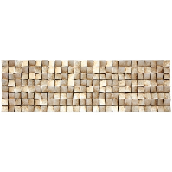"""""""Textured 2 Handed Painted Rugged Wooden Blocks Wall Décor - Brown. Opens flyout."""