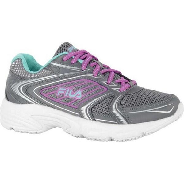 92a4947f57 Fila Women  x27 s Memory Pacesetter Slip-Resistant Jogger Sneaker  Castlerock Purple