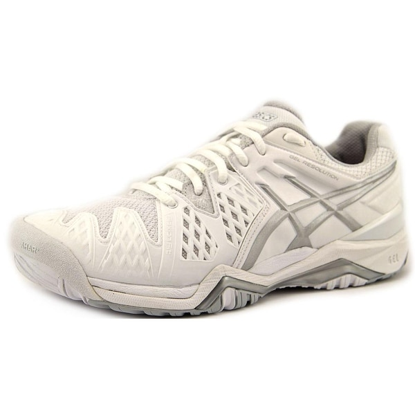 Asics Gel-Resolution 6 Women White/Silver Tennis Shoes