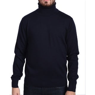 Valentino Men's Turtleneck Sweater Dark Navy Blue
