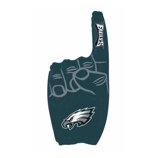 "Philadelphia Eagles NFL Team Logo Inflatable 1 Finger - 12"" W / 27"" tall. Opens flyout."