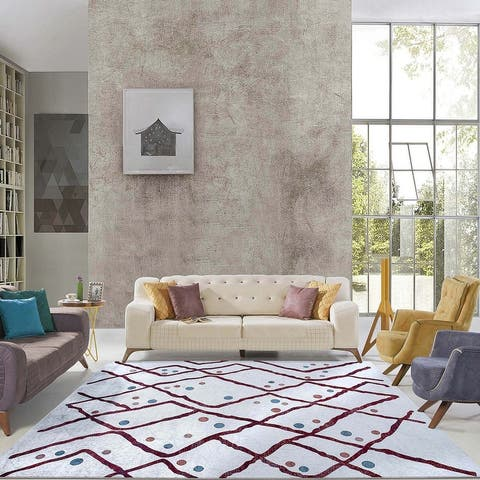 Multi Contemporary Bohemian Rugs Abstract Dots Area Rug