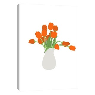 "PTM Images 9-105493  PTM Canvas Collection 10"" x 8"" - ""Tulips in Vase"" Giclee Tulips Art Print on Canvas"