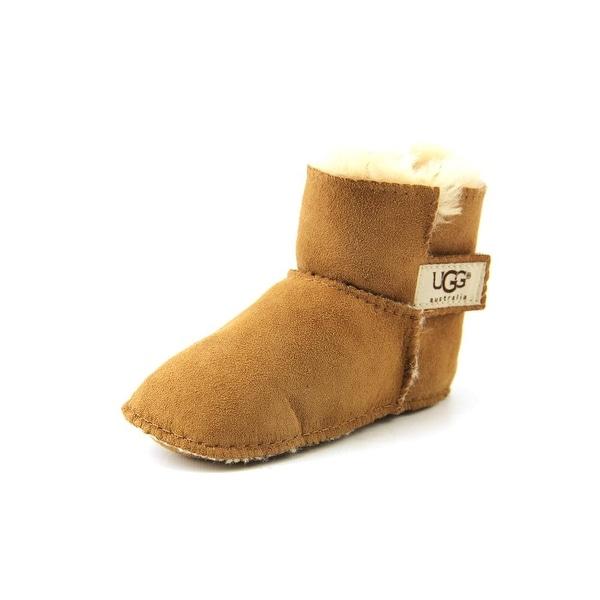Ugg Australia I Erin Toddler Round Toe Suede Brown Winter Boot