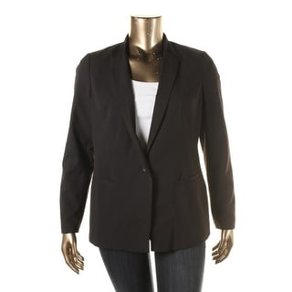 Laundry by Shelli Segal Womens Ponte No Collar One-Button Blazer