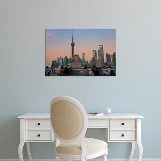 Easy Art Prints Keren Su's 'Shanghai' Premium Canvas Art