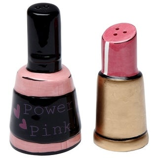 Cosmos Gifts 62411 3 in. Nail Polish & Lipstick Salt & Pepper Shaker