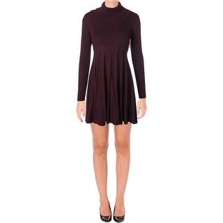 Calvin Klein Womens Petites Sweaterdress Shadow Stripe Cowl Neck