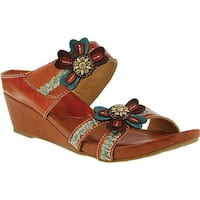 L'Artiste by Spring Step Women's Bacall Wedge Slide Camel Leather