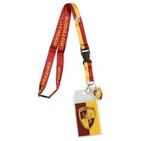 Harry Potter Gryffindor Lanyard With 3D Metal Charm ID Card Holder And Sticker - One Size Fits Most