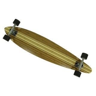 46 in. Canadian Maple Striped Pintail Longboard w/Grip Tape Top - Brown