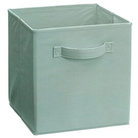 ClosetMaid 1144 2 - Handle Fabric Storage Bin,Seafoam Green, Polypropylene