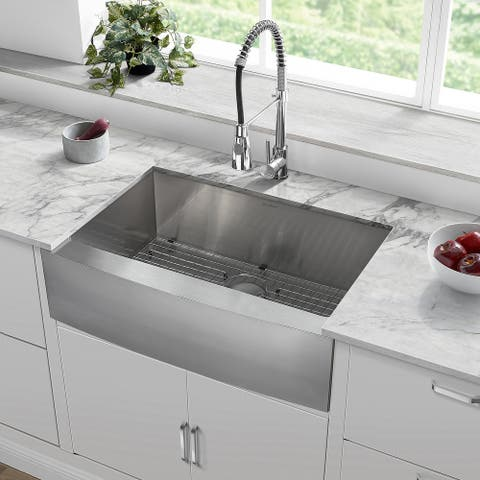 Rivage 30 x 21 Single Basin Farmhouse Kitchen Sink