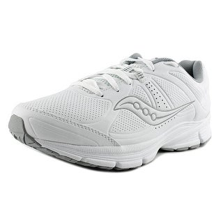 Saucony Grid Momentum Round Toe Leather Sneakers
