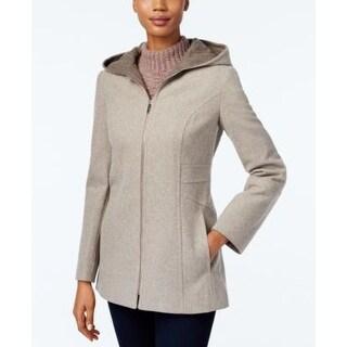 London Fog Hooded Walker Coat Medium Grey Small
