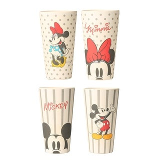 Mickey and Minnie 2 Piece 24 oz Bamboo Tumbler Set