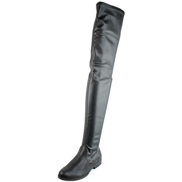 LFL Rank Women Round Toe Leather Over the Knee Boot