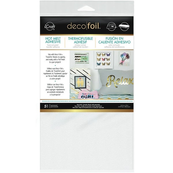 "Deco Foil Iron-On Adhesive Transfer Sheet 5.5""X12"" 5/Pkg-"