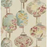 Brewster 2669-21712 Kana Beige Lantern Festival Wallpaper