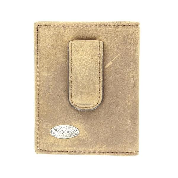 Nocona Western Wallet Mens Money Clip Front Pocket Saddle - One size
