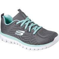 Skechers Women's Graceful Get Connected Trainer Charcoal/Green