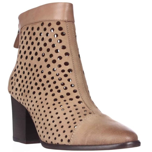 Rebecca Minkoff Bedford Perforated Ankle Boots, Tan - 7 US