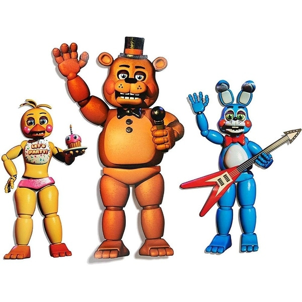 "Five Nights At Freddy's Character Cutouts: Freddy 20"", Bonnie 15"", Chica 14"""