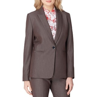 Tahari ASL Womens Petites One-Button Blazer Peak-Lapel Long Sleeves - 2p