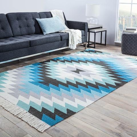 Sahara Indoor/ Outdoor Geometric Area Rug