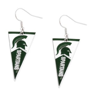 Michigan State Spartans NCAA Pennant Dangle Earring