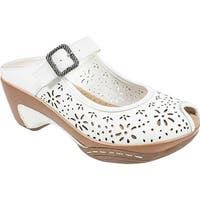 White Mountain Women's Miso White Leather