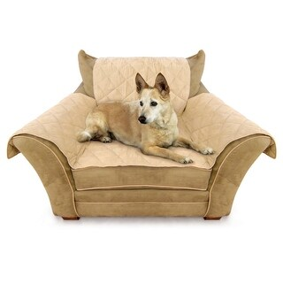 """K&H Pet Products Furniture Cover Chair Tan 22"""" x 26"""" seat, 42"""" x 47"""" back, 22"""" x 26"""" side arms"""