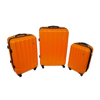 3 Pc. Brightly Colored Hard Shell Rugged Rolling Luggage Set (2 options available)