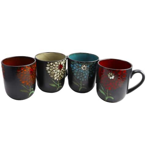 Gibson Home Gardenia Cafe 4 Piece 16 oz. Assorted Mug Set
