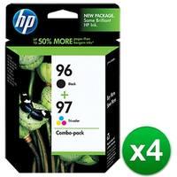 HP 96 Black & 97 Tri-color 2-pack Original Ink Cartridges (C9353FN) (4-Pack)