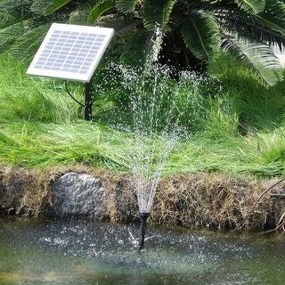 Sunnydaze Solar Pump & Solar Panel Kit with Battery Pack & LED Light 132 GP