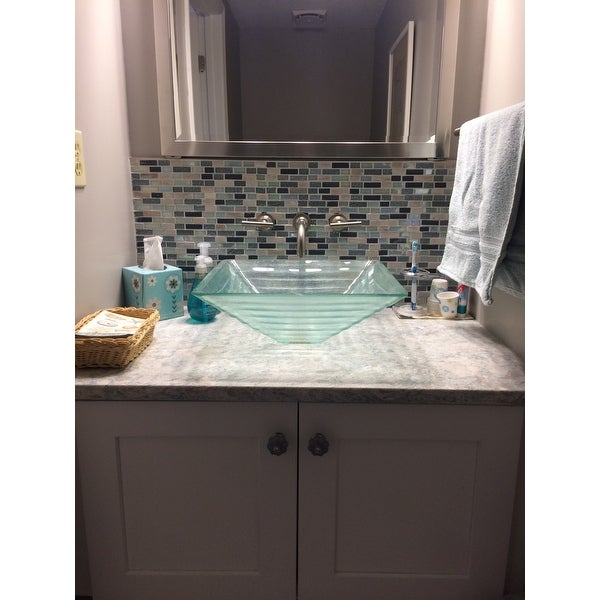 crystal bathroom vessel sink free shipping today