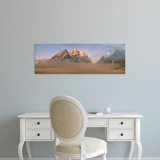 Easy Art Prints Panoramic Images's 'Teton peaks in valley fog, Grand Teton National Park, Teton, Wyoming' Canvas Art