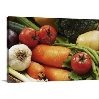 """""""Close-up of fresh vegetables"""" Canvas Wall Art"""