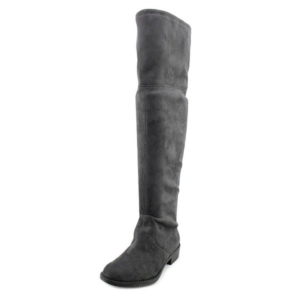No Parking Kordial Round Toe Synthetic Over the Knee Boot