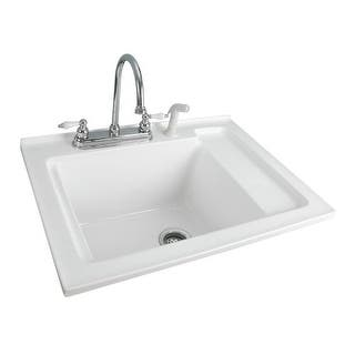 Acrylic kitchen sinks for less overstock foremost ls 3021 w berkshire laundry sink acrylic with shelf 305 workwithnaturefo