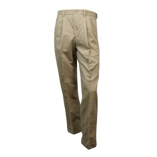 Dockers Men's Comfort Khaki Pleated Pant (Khaki, 33x32) - 33X32