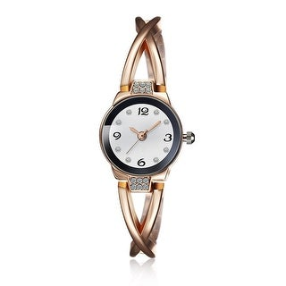 18K Rose Gold Modern Curved Onyx Watch