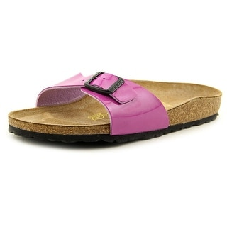 Birkenstock Madrid Women N/S Open Toe Synthetic Purple Slides Sandal